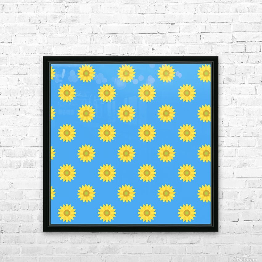 Sunflower (36) HD sublimation métal imprimé avec décoration flotteur cadre (boîte)