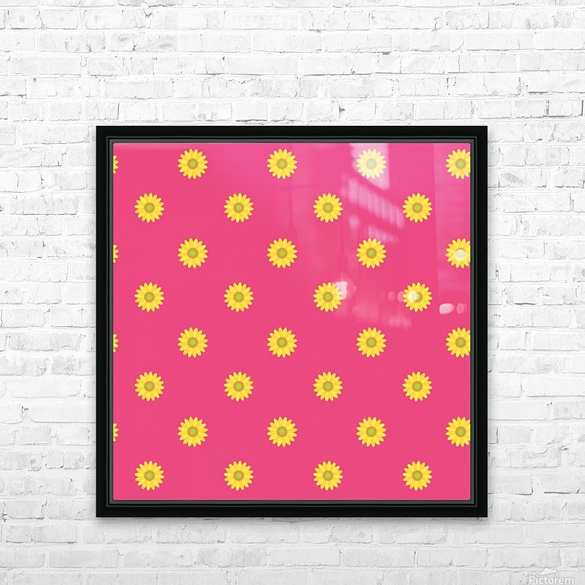 Sunflower (33) HD Sublimation Metal print with Decorating Float Frame (BOX)