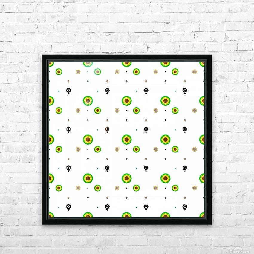 Sunflower (3) HD Sublimation Metal print with Decorating Float Frame (BOX)