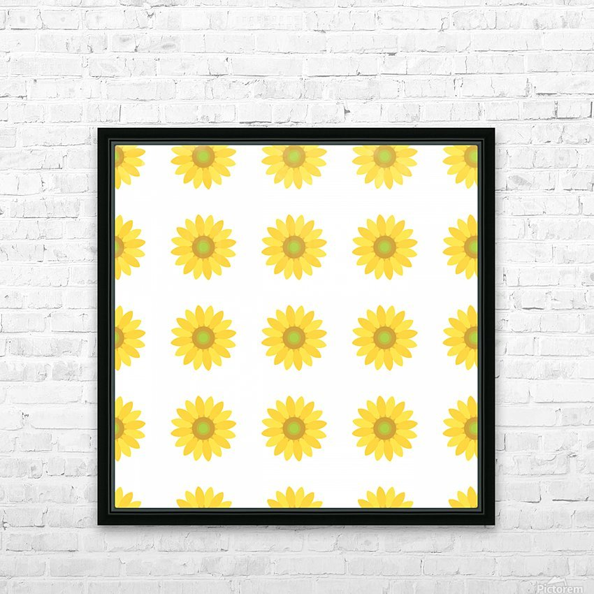 Sunflower (4) HD Sublimation Metal print with Decorating Float Frame (BOX)