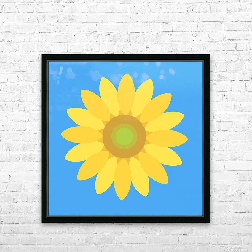 Sunflower (13) HD Sublimation Metal print with Decorating Float Frame (BOX)