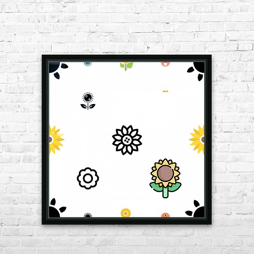 Sunflower (51) HD Sublimation Metal print with Decorating Float Frame (BOX)