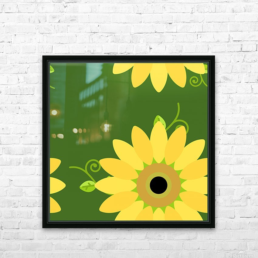 Sunflower (59) HD Sublimation Metal print with Decorating Float Frame (BOX)