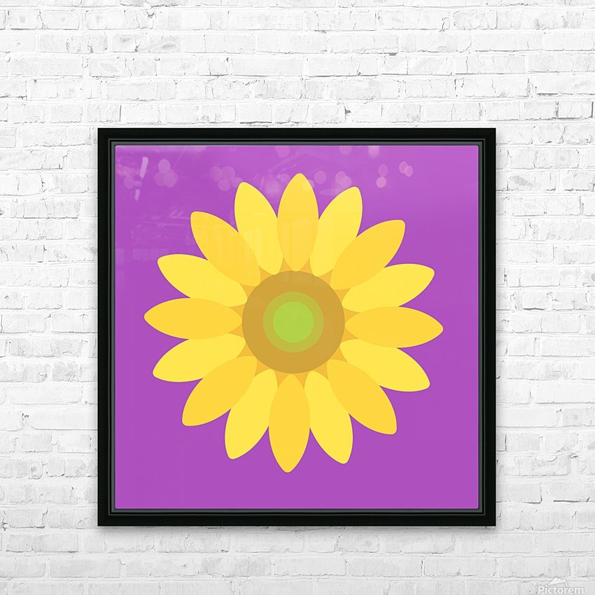 Sunflower (11)_1559876168.1472 HD Sublimation Metal print with Decorating Float Frame (BOX)