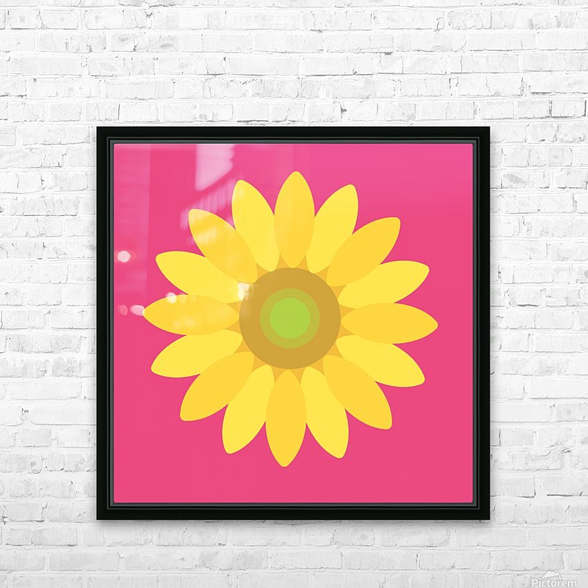 Sunflower (10)_1559876168.0048 HD Sublimation Metal print with Decorating Float Frame (BOX)