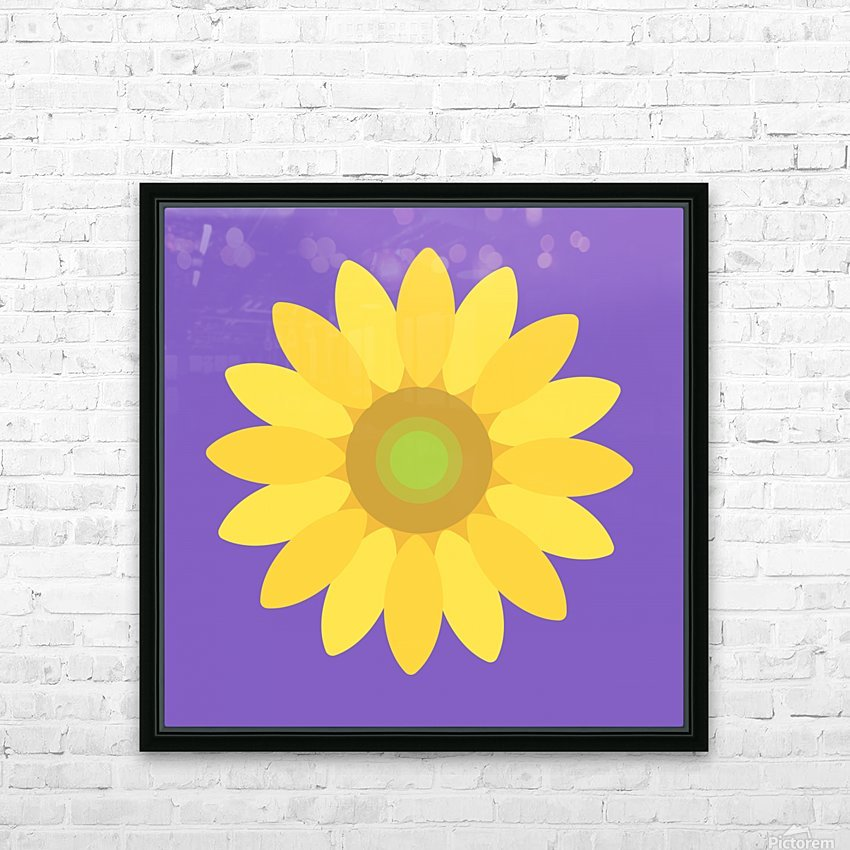 Sunflower (12)_1559876168.1055 HD Sublimation Metal print with Decorating Float Frame (BOX)