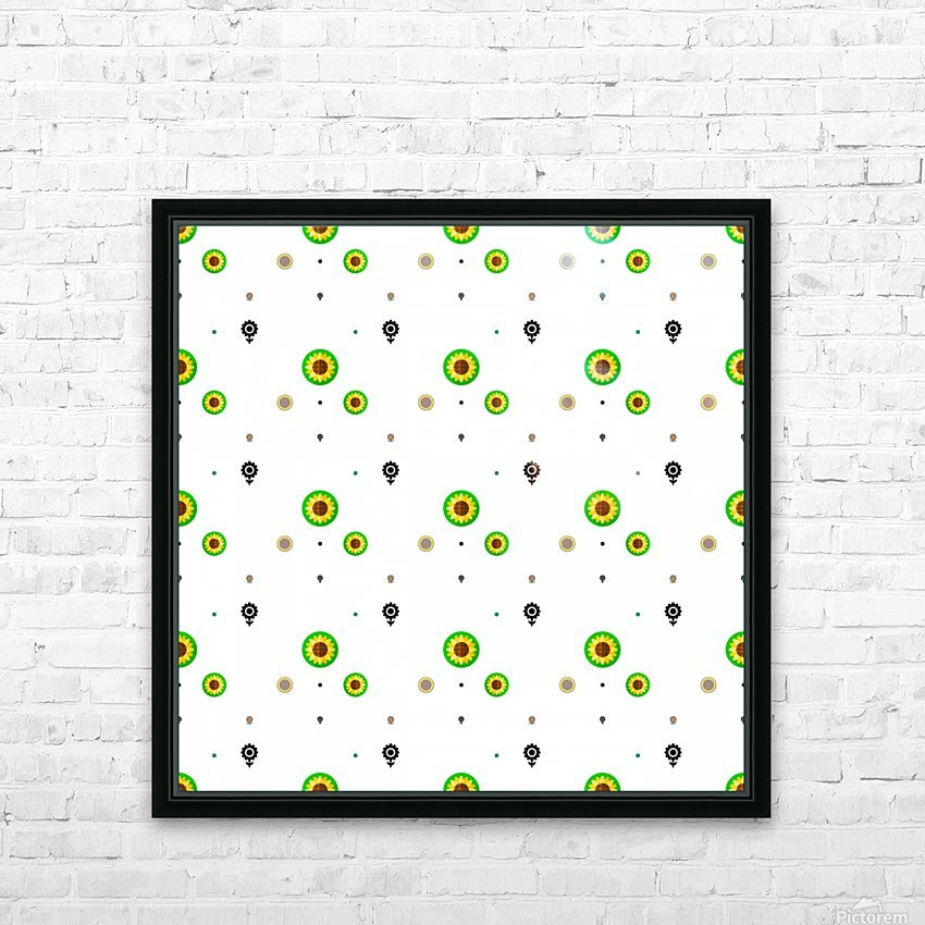 Sunflower (3)_1559876456.3572 HD Sublimation Metal print with Decorating Float Frame (BOX)