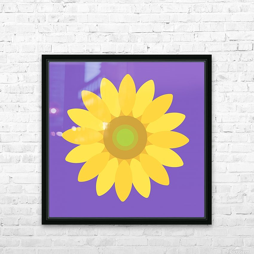 Sunflower (12)_1559876482.6881 HD Sublimation Metal print with Decorating Float Frame (BOX)