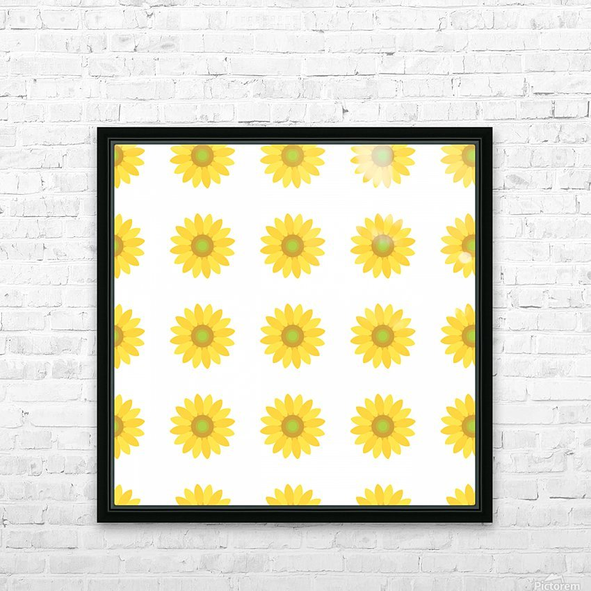 Sunflower (4)_1559876456.7576 HD Sublimation Metal print with Decorating Float Frame (BOX)