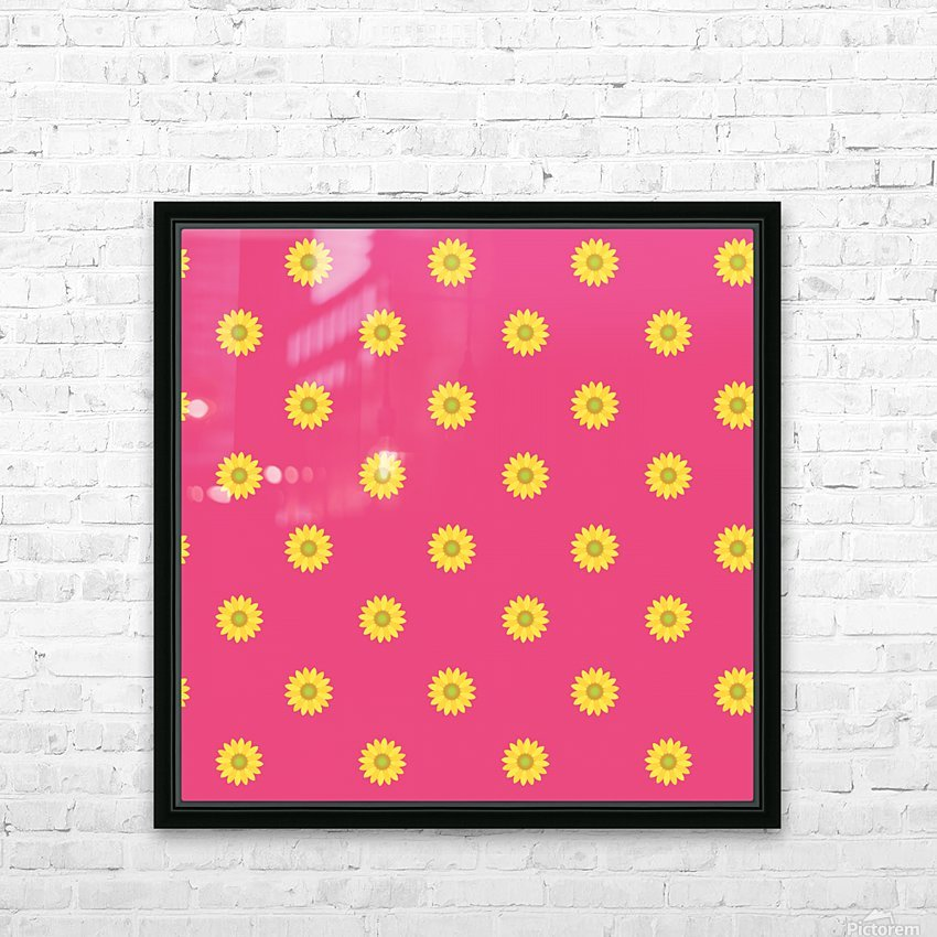 Sunflower (33)_1559876649.473 HD Sublimation Metal print with Decorating Float Frame (BOX)