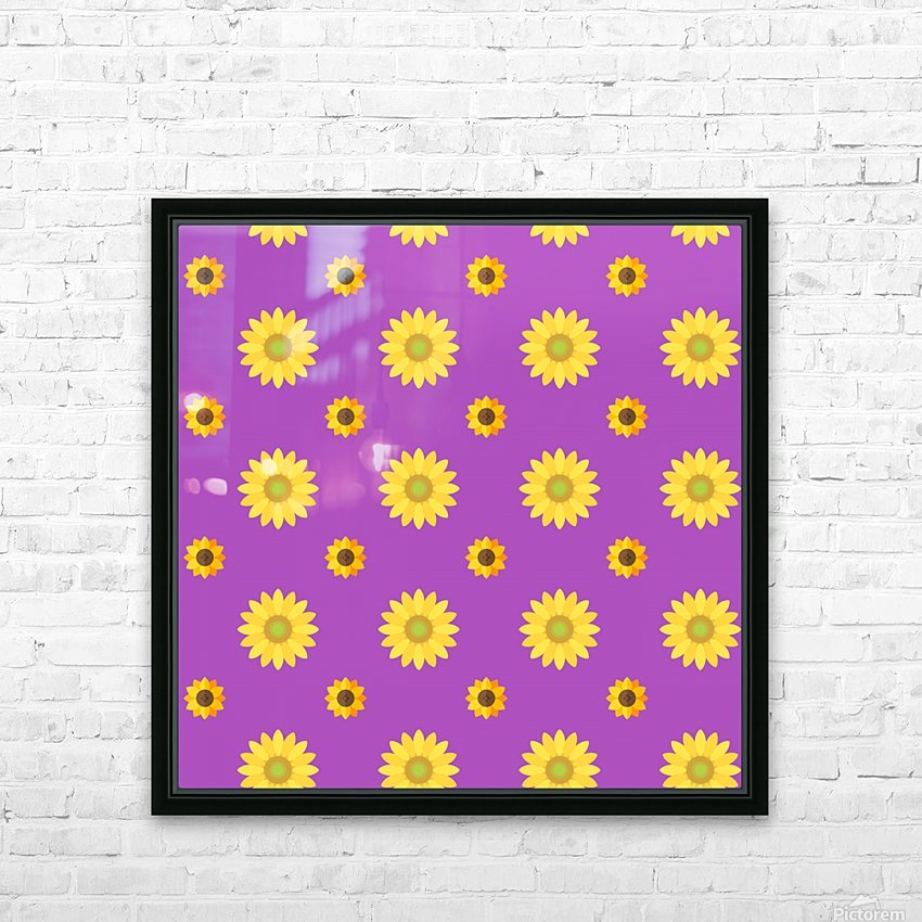 Sunflower (7)_1559876736.0367 HD Sublimation Metal print with Decorating Float Frame (BOX)