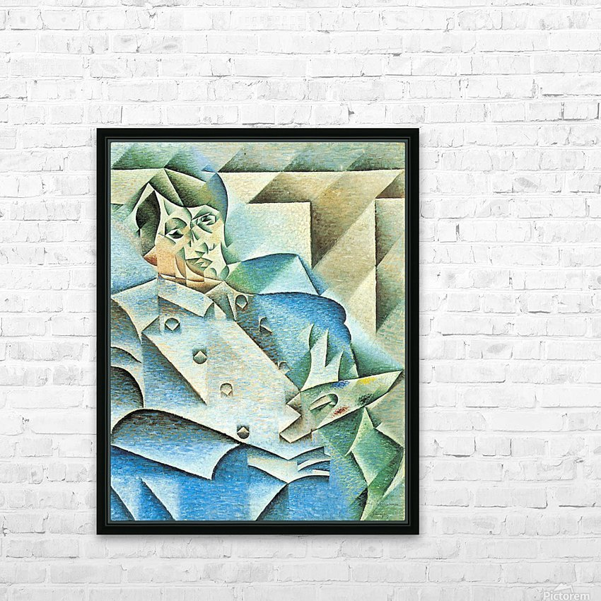 Homage to Pablo Picasso by Juan Gris HD Sublimation Metal print with Decorating Float Frame (BOX)