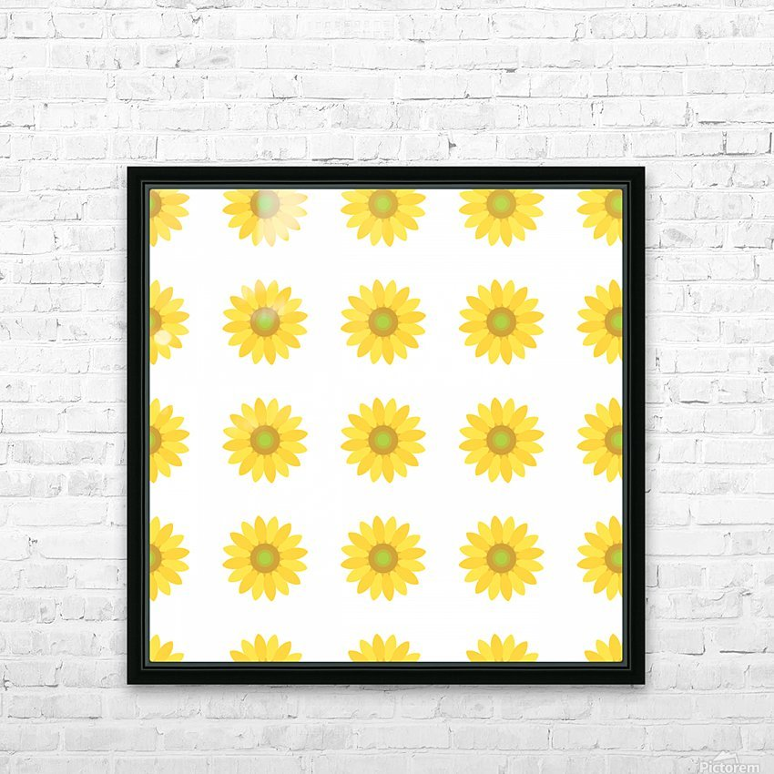 Sunflower (4)_1559876734.9476 HD Sublimation Metal print with Decorating Float Frame (BOX)