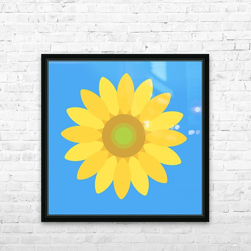 Sunflower (13)_1559876729.118 HD Sublimation Metal print with Decorating Float Frame (BOX)
