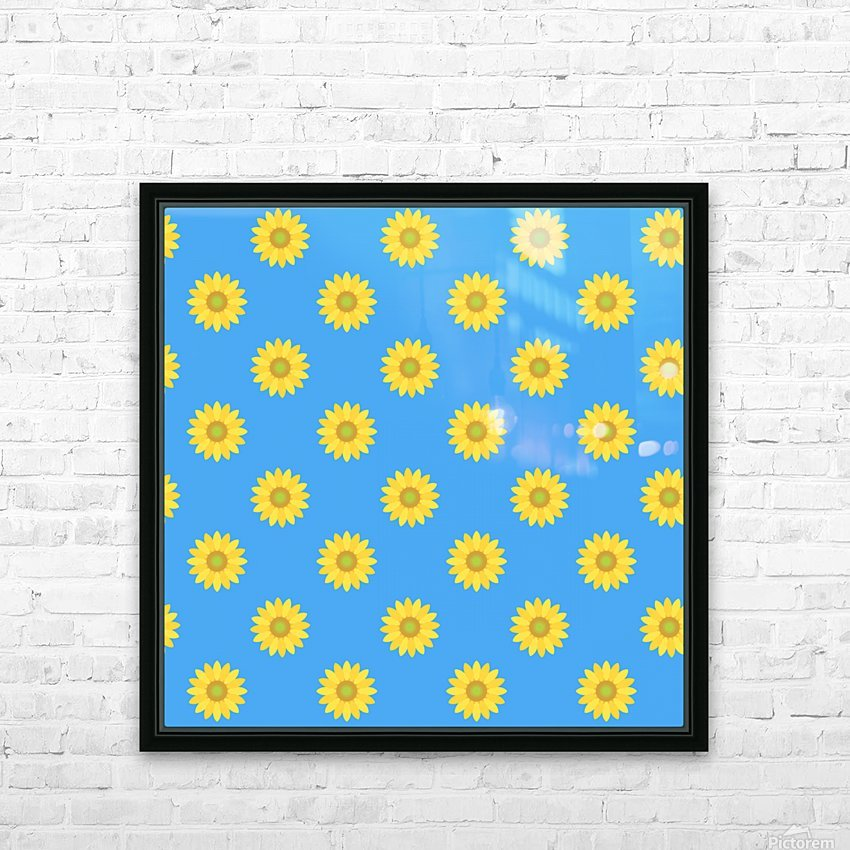 Sunflower (36)_1559876661.0675 HD Sublimation Metal print with Decorating Float Frame (BOX)