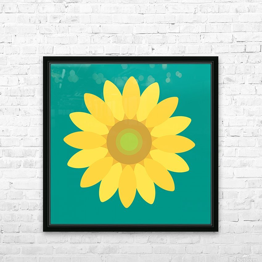 Sunflower (15)_1559876665.7687 HD Sublimation Metal print with Decorating Float Frame (BOX)