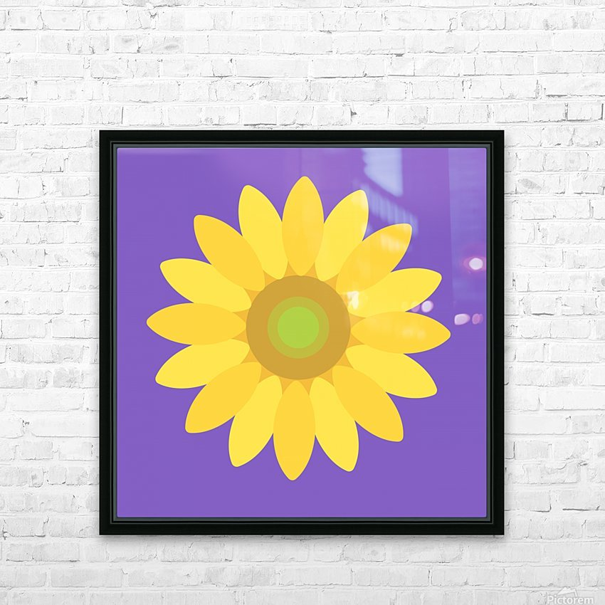 Sunflower (12)_1559876665.8775 HD Sublimation Metal print with Decorating Float Frame (BOX)
