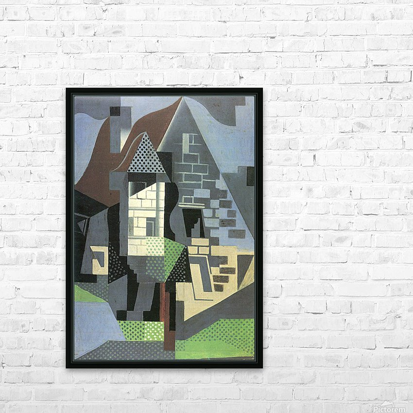 Houses in Beaulieu by Juan Gris HD Sublimation Metal print with Decorating Float Frame (BOX)