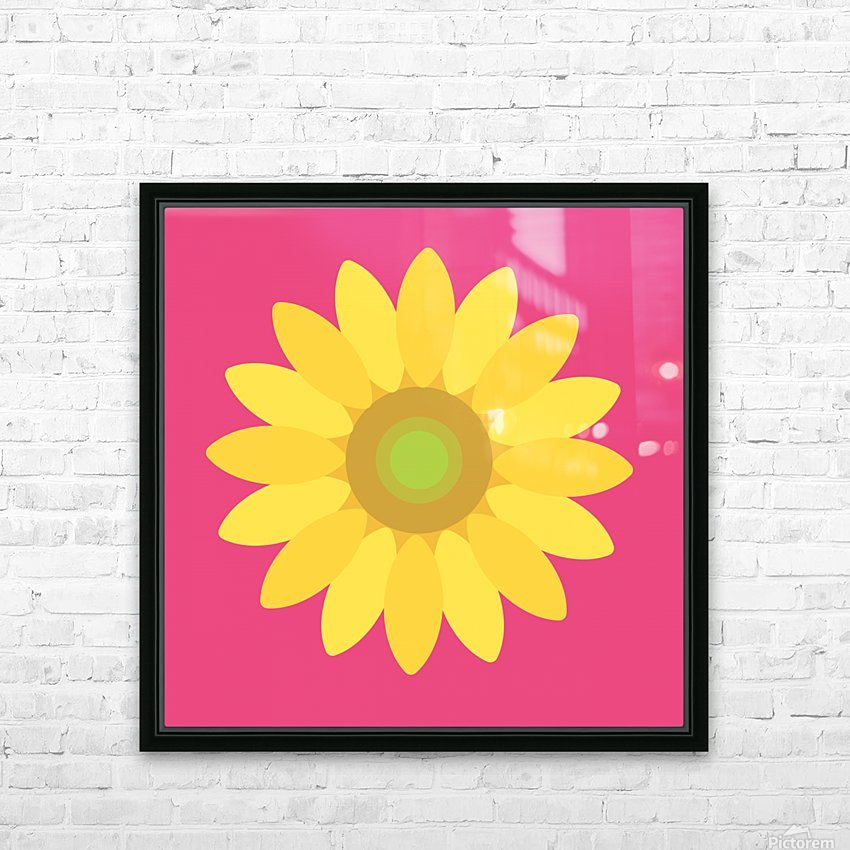 Sunflower (10)_1559876665.7513 HD Sublimation Metal print with Decorating Float Frame (BOX)