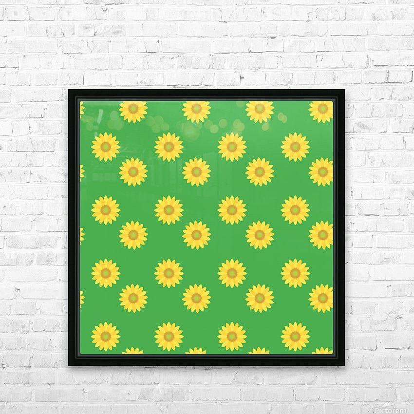 Sunflower (38)_1559876660.041 HD Sublimation Metal print with Decorating Float Frame (BOX)