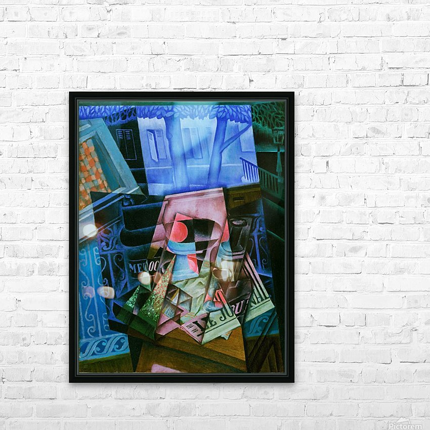 Juan Gris - Still Life before an Open Window HD Sublimation Metal print with Decorating Float Frame (BOX)