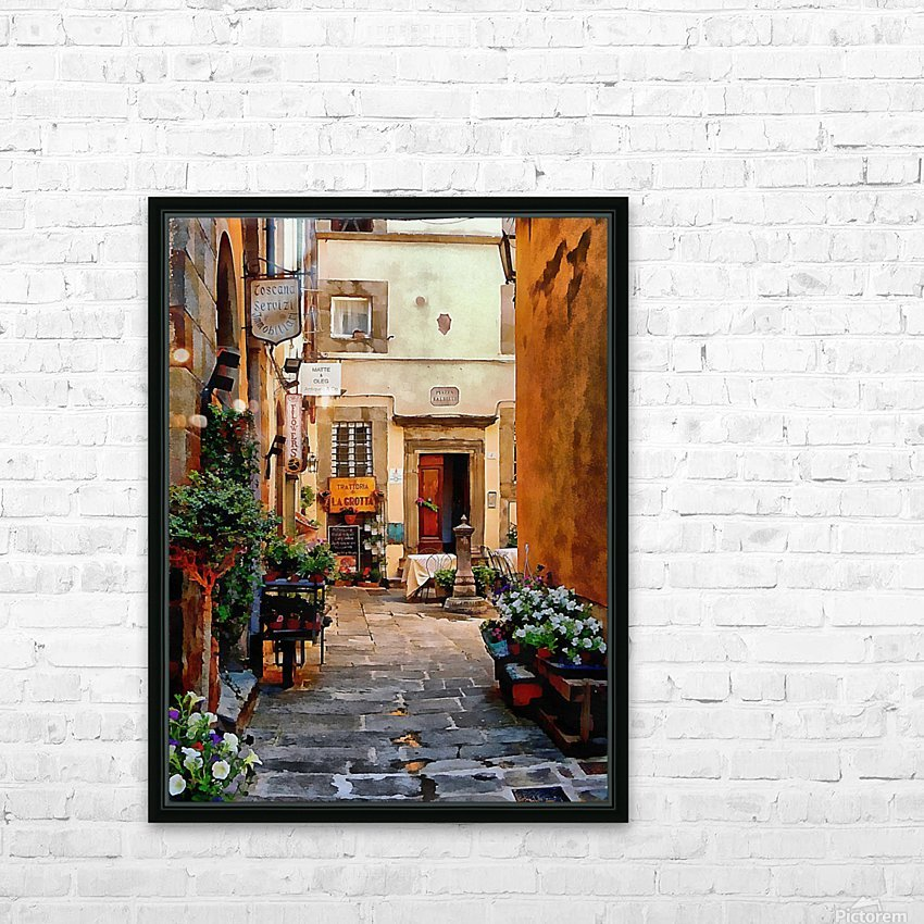 Floral Courtyard Cortona Tuscany HD Sublimation Metal print with Decorating Float Frame (BOX)