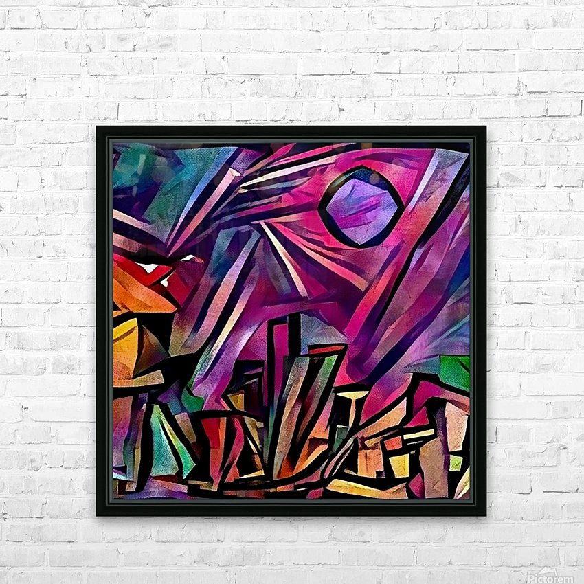 Night City Moon HD Sublimation Metal print with Decorating Float Frame (BOX)