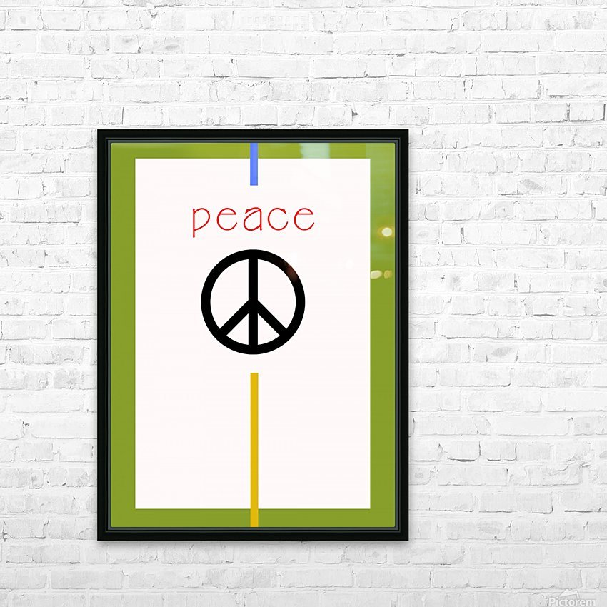 PEACE HD Sublimation Metal print with Decorating Float Frame (BOX)