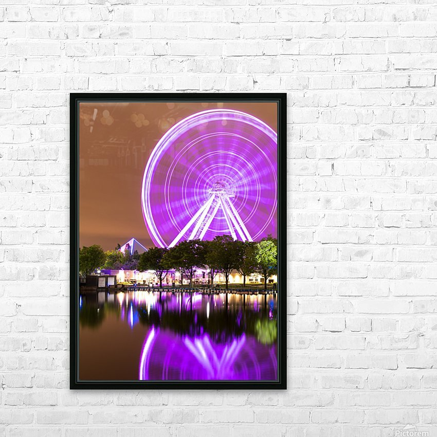 La Grande Roue de Montréal HD Sublimation Metal print with Decorating Float Frame (BOX)