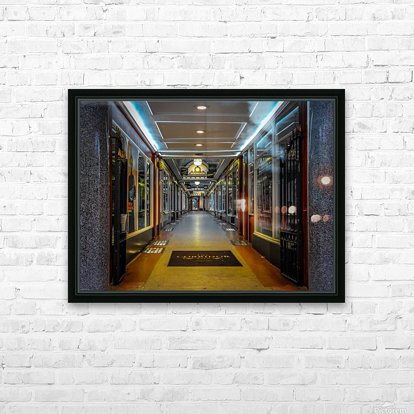 Hallway HD Sublimation Metal print with Decorating Float Frame (BOX)