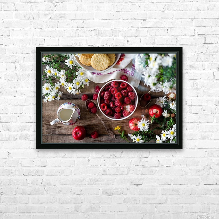 Apples Berries  HD Sublimation Metal print with Decorating Float Frame (BOX)