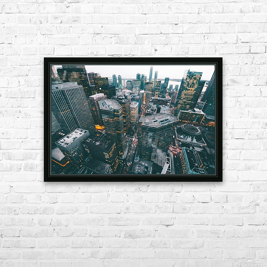 New York Architectural design HD Sublimation Metal print with Decorating Float Frame (BOX)
