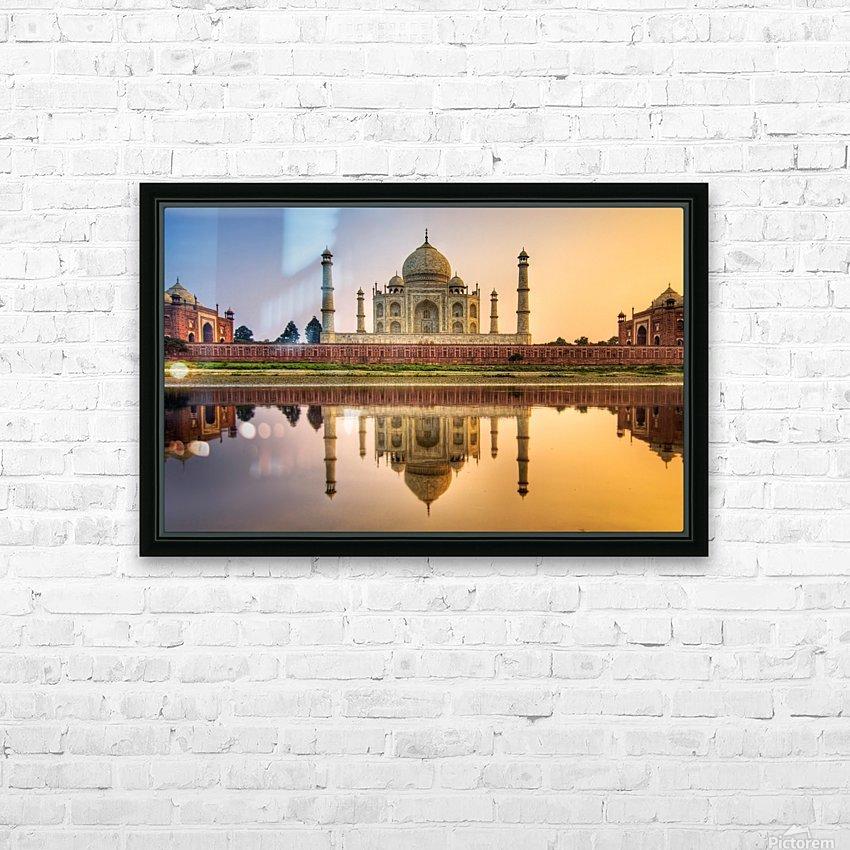 Taj Mahal HD Sublimation Metal print with Decorating Float Frame (BOX)
