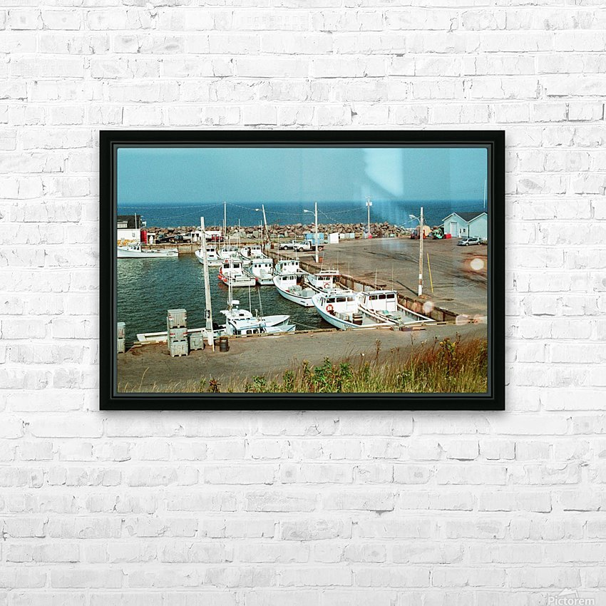 Low Tide - Canadian Harbour HD Sublimation Metal print with Decorating Float Frame (BOX)