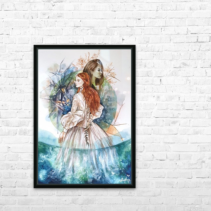 Shape of water HD Sublimation Metal print with Decorating Float Frame (BOX)