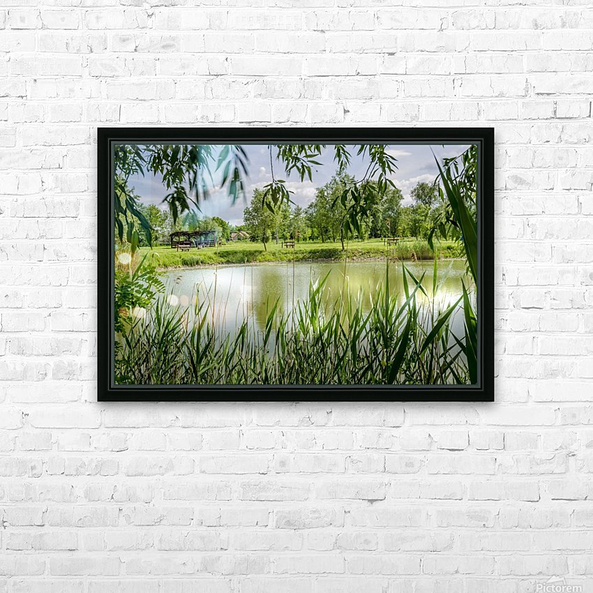 Summer Lake HD Sublimation Metal print with Decorating Float Frame (BOX)
