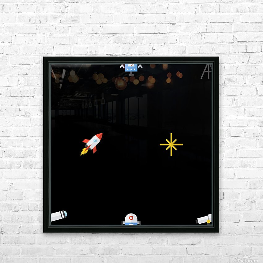 Space (20) HD Sublimation Metal print with Decorating Float Frame (BOX)