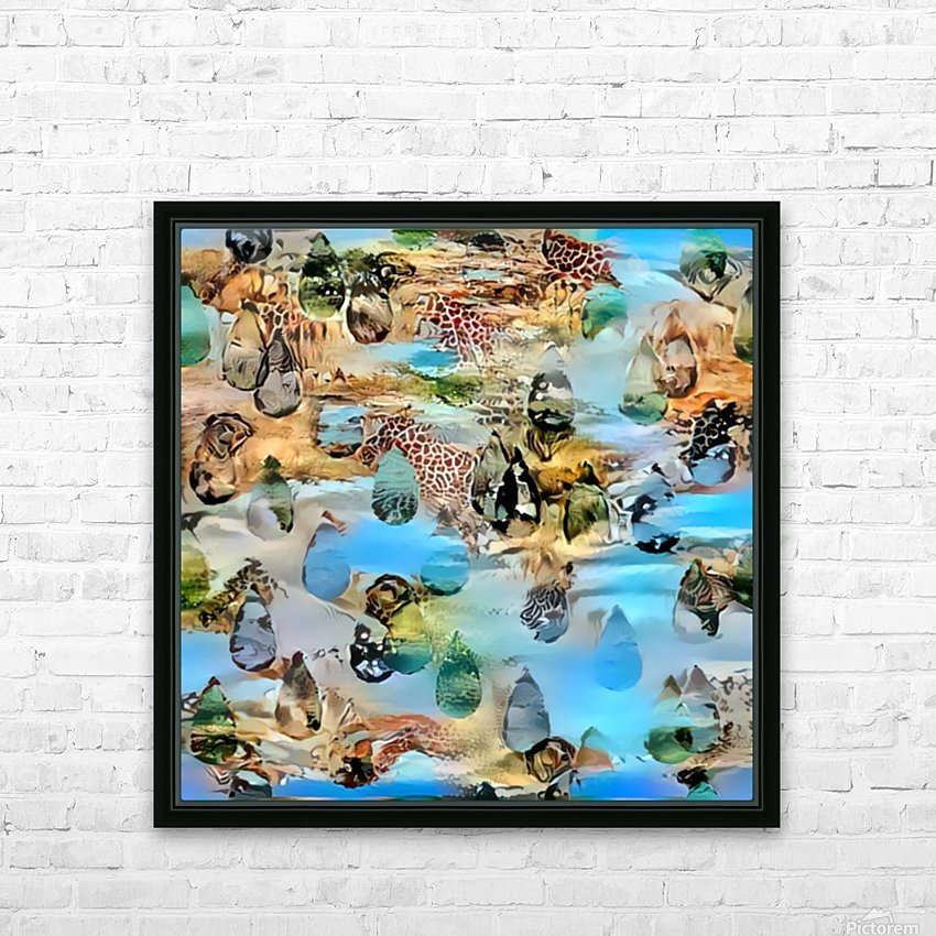 Nature Art HD Sublimation Metal print with Decorating Float Frame (BOX)