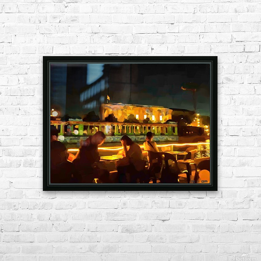 BERLIN_View  072 HD Sublimation Metal print with Decorating Float Frame (BOX)