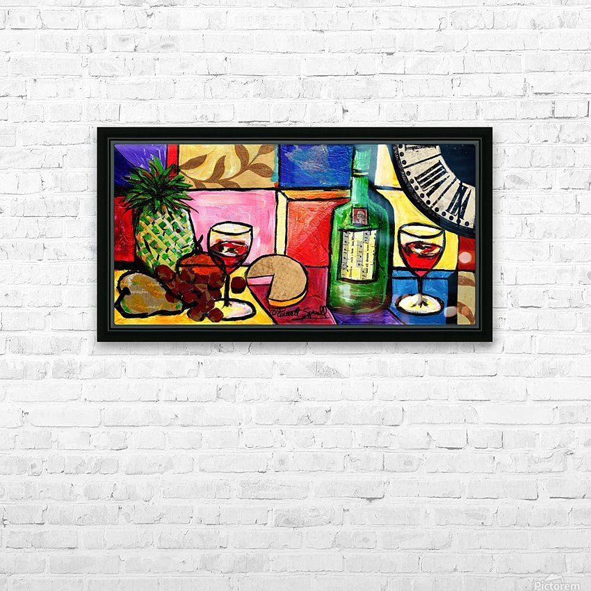 Still Life Fruit and Wine HD Sublimation Metal print with Decorating Float Frame (BOX)