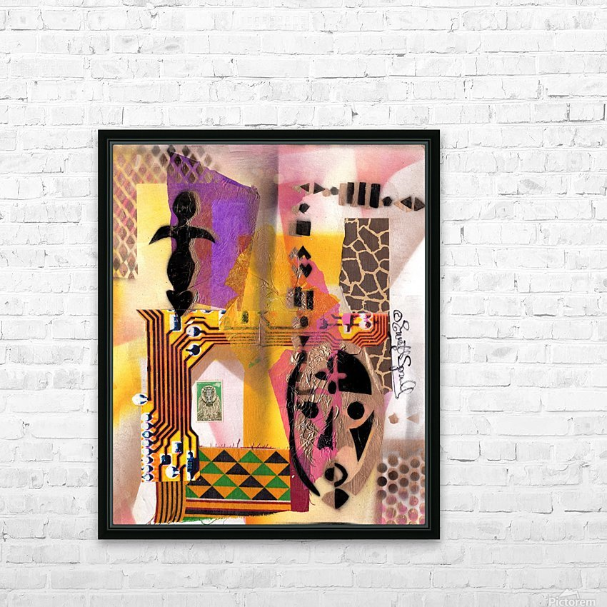 Cultural Remnant -A HD Sublimation Metal print with Decorating Float Frame (BOX)