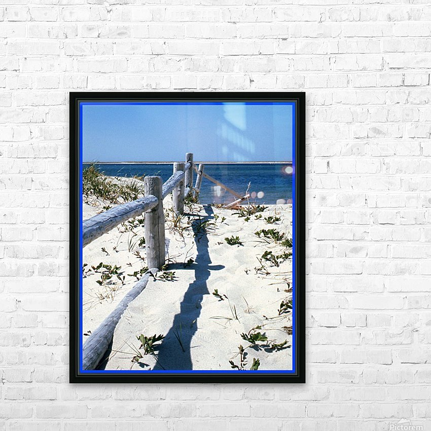 Nauset Beach Fence - Cape Cod Massachusetts HD Sublimation Metal print with Decorating Float Frame (BOX)