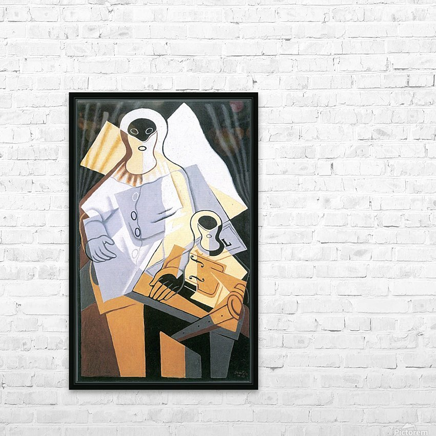 Pierrot -1- by Juan Gris HD Sublimation Metal print with Decorating Float Frame (BOX)