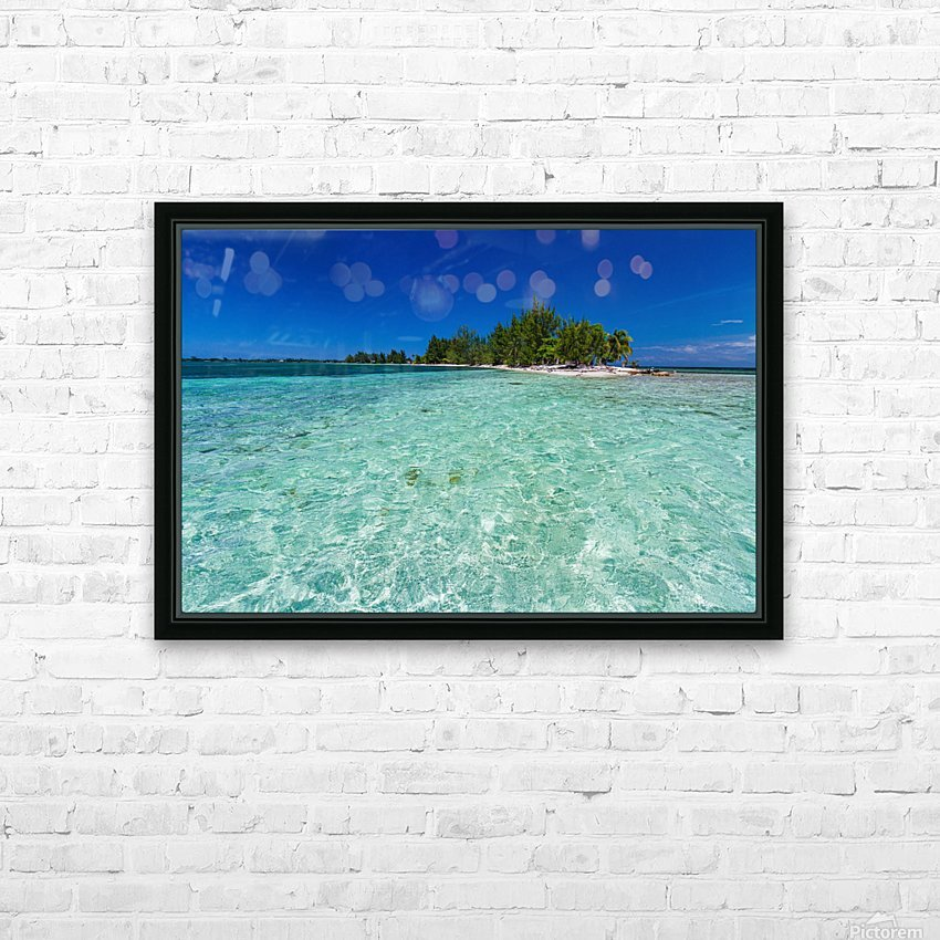 Tropical Cay HD Sublimation Metal print with Decorating Float Frame (BOX)