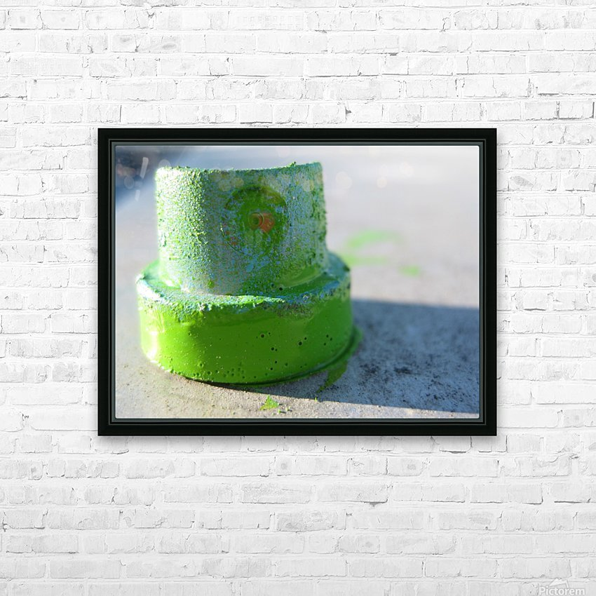 GREEN CAP HD Sublimation Metal print with Decorating Float Frame (BOX)