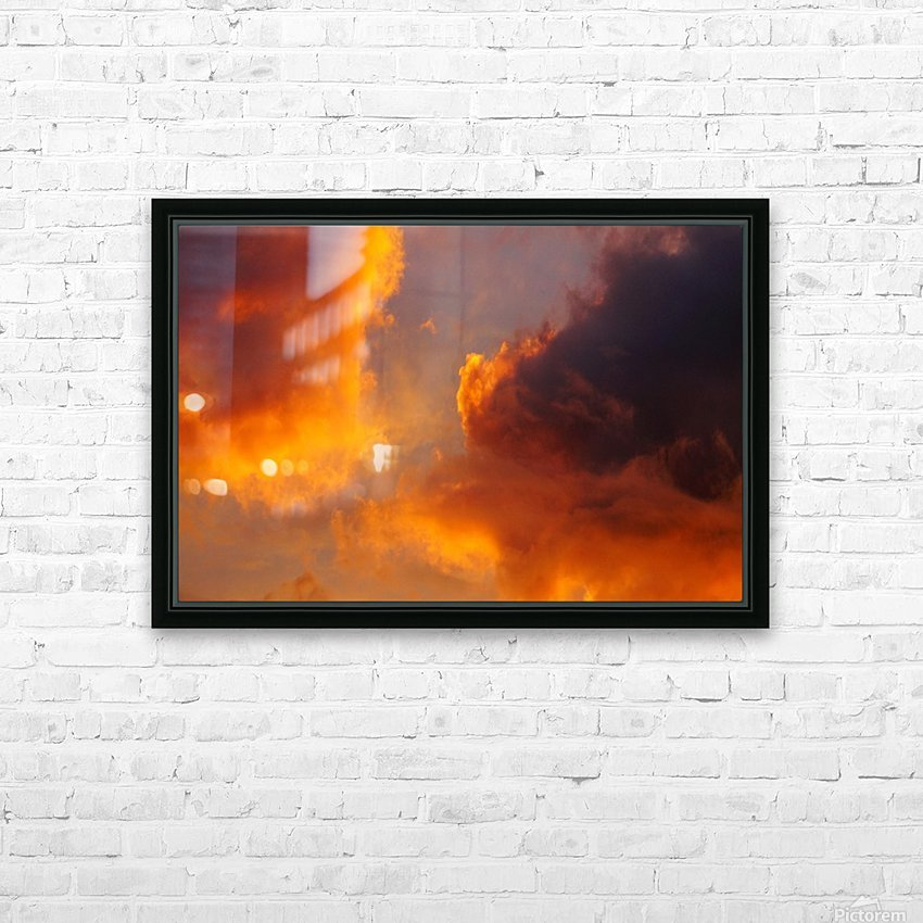 Golden Cloudscape 01 HD Sublimation Metal print with Decorating Float Frame (BOX)