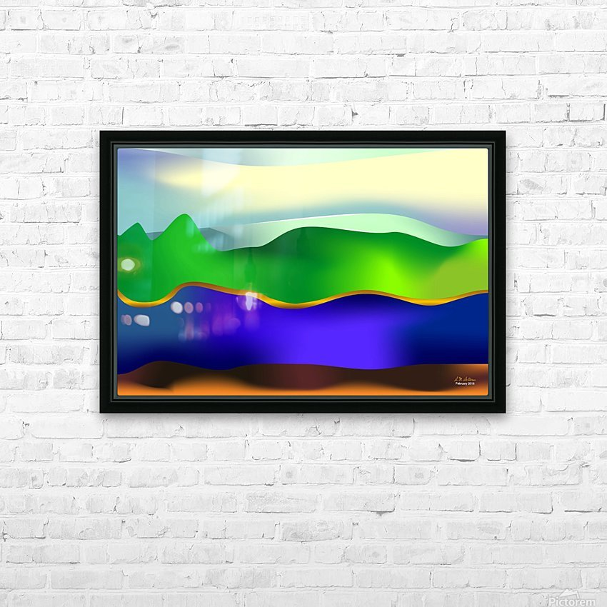 1-Serenity 1 HD Sublimation Metal print with Decorating Float Frame (BOX)