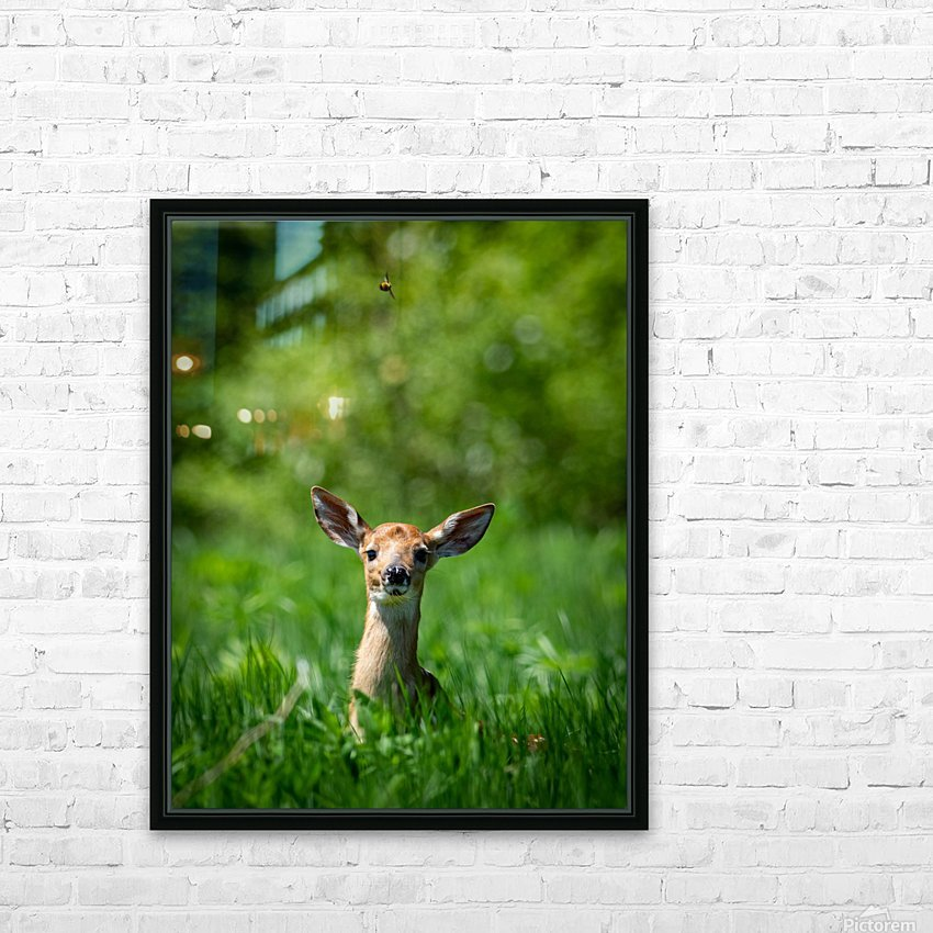 The Fawn and the Bumblebee HD Sublimation Metal print with Decorating Float Frame (BOX)
