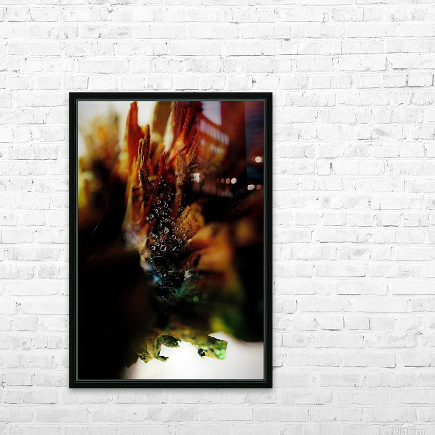 Macro Raindrop Photography Art 23 HD Sublimation Metal print with Decorating Float Frame (BOX)