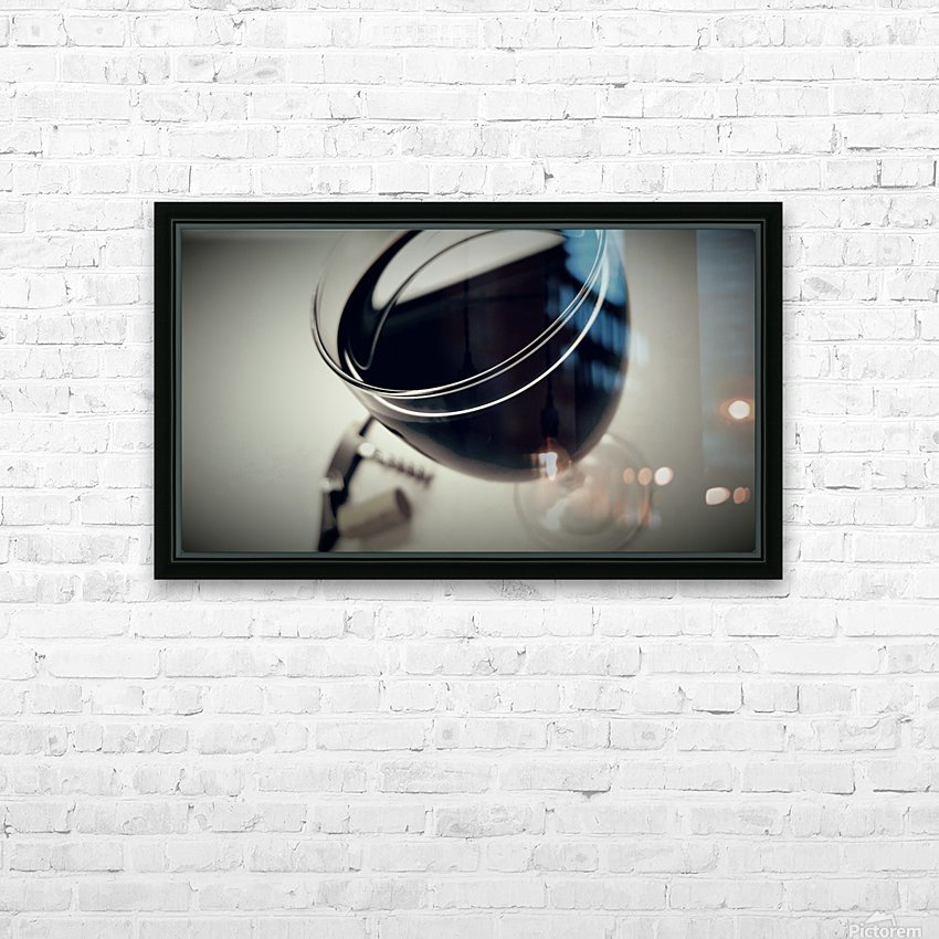 Wine Art 2 HD Sublimation Metal print with Decorating Float Frame (BOX)